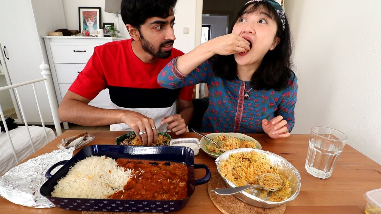 FOREIGNER Try Hyderabadi Biryani FIRST TIME with HAND and CHOPSTICK
