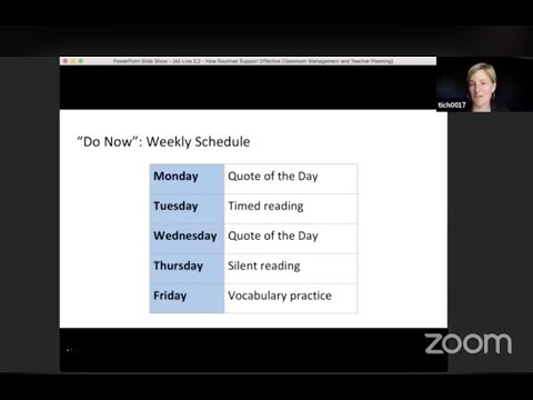 AE Live Teacher Development Event 2.2: Routines to Support Effective Classroom Management & Planning