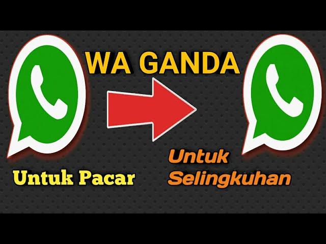 Cara Membuat 2 Akun Whatsapp Dalam 1 Hp Youtube