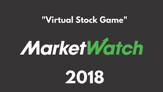 Market Watch Tutorial- Stock Market Competition 2018 NHSA