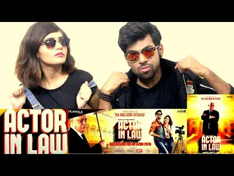 BEST INDIAN REACTION ON PAKISTANI MOVIE ACTOR IN LAW || INDIAN COUPLE REACTS ON ACTOR IN LAW MOVIE||