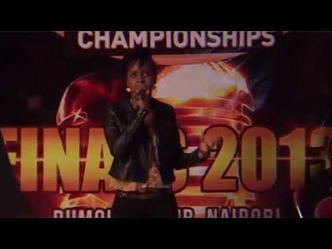 Cate position 3 Kenya Karaoke Championship FINALS