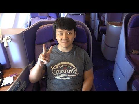 Flying Thai Airways & ANA BUSINESS CLASS New York To Bangkok!