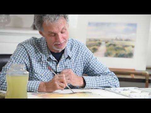 Geoff Kersey's Watercolour Landscapes - Feedback of Students work