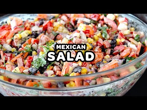 Easy Make Ahead Mexican Salad With Ranch - Tasty Party Appetizer, Lunch Salad Or Football Recipes