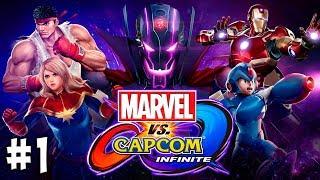 сЛИЯНИЕ МИРОВ Marvel vs Capcom Infinite прохождение режим истории #1