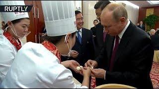 «По-президентски»: Путин и Си Цзиньпин вместе приготовили блюда китайской кухни