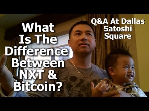 NXT For Investors #21 - What Is The Difference Between NXT & Bitcoin? - At Dallas Satoshi Square