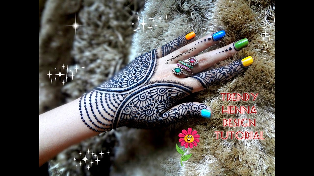 DIY HENNA: Beautiful henna mehndi design tutorial for eid and ...