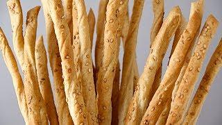 Pão Crocante Para Aperitivos