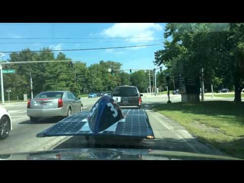 University of Kentucky Solar Car Drive Around Lexington 8-26-2014