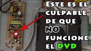 Reparar DVD que no enciende | Fallo en la fuente de alimentación ⚡