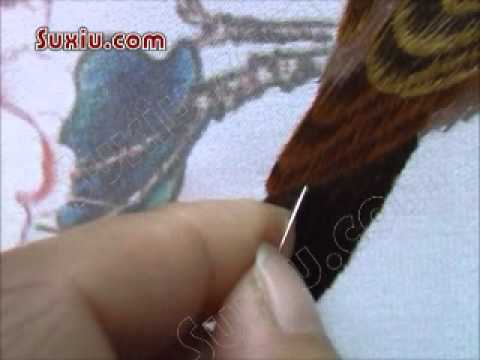 Brown Bird & Peony Flowers--Chinese Silk Embroidery Video