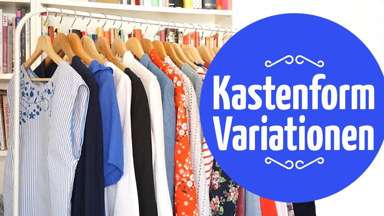 Kastenform-Grundschnitt Abwandlungen // Schnittmuster-Variationen ...