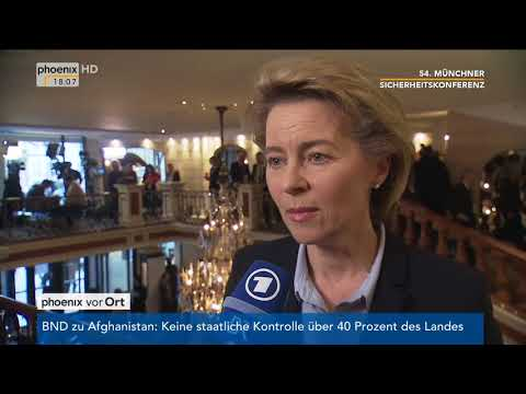 Ursula von der Leyen im Interview bei der 54. Münchner Sicherheitskonferenz vom 16.02.2018