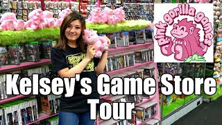 Tour of Kelsey\'s Pink Gorilla game store in Seattle!