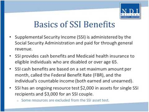 Supplemental Security Income SSI and SSI Work Incentives You Can