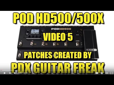 POD HD500 - Rock/Metal/Funk patches (video 5)