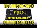 Download POD HD500 - Rock/Metal/Funk patches ( 5) MP3 song and Music Video