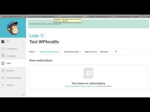How to integrate Mailchimp with WordPress – Email Newsletter
