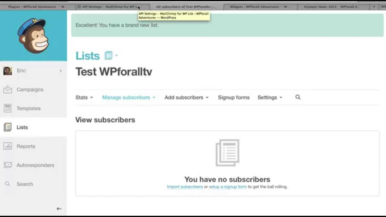 How to integrate Mailchimp with WordPress - Email Newsletter