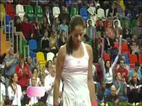 Fed Cup Highlights: Anastasia Pavlyuchenkova v Ana Ivanovic
