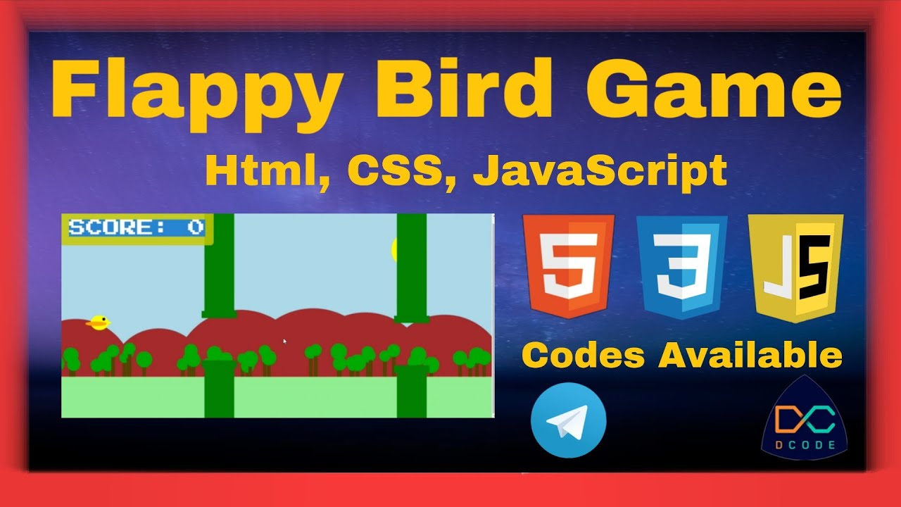Flappy Bird Game with Html, CSS,JavaScript & also available Source Code||#code#coding#game