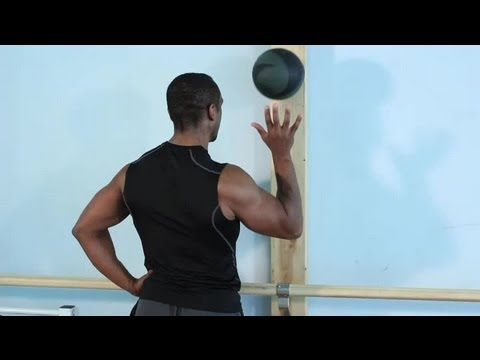 shoulder rotator cuff exercises with a medicine ball