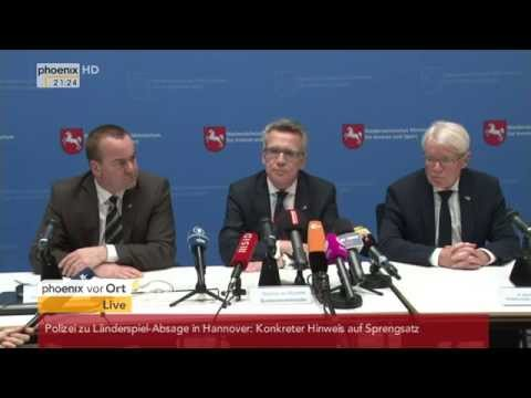 Terror-Verdacht in Hannover: Thomas de Maizière gibt Pressekonferenz am 17.11.2015