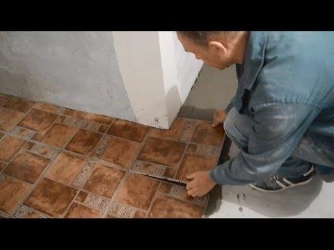 Просто и легко подрезаем напольную плитку под внешний угол.