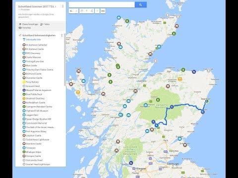 Karte Mit Markierungen Erstellen Kostenlos.Eine Karte Erstellen Mit Googlemaps My Maps I Urlaubsplanung Youtube