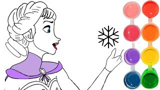 How to Draw & Color Frozen Elsa | Drawing art 4 Kids & New Learning | Toddlers Learn colouring book
