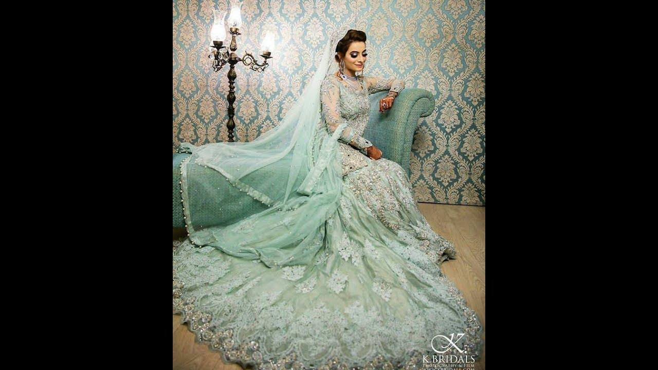 867754d4ee Latest Bridal Dresses Collection in Blue & Green - Pakistani Fashion ...