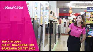 Top 3 tủ lạnh giá rẻ ngăn đông lớn dự trữ thực phẩm tốt dịp tết 2020