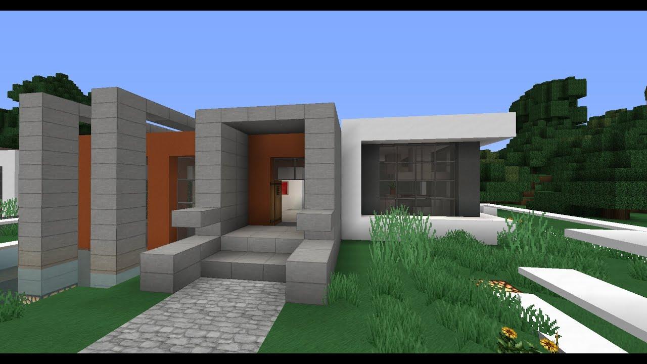 moderner minecraft bungalow 1 youtube. Black Bedroom Furniture Sets. Home Design Ideas