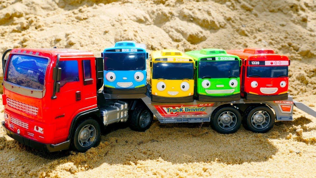 Развивающие мультики. Автобус Тайо и машинки. Учим цвета ...