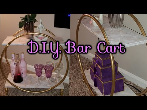 ZGallerie Inspired Bar Cart + Detailed DIY