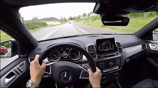 2017 Mercedes GLE Coupe 350d 60 FPS POV/test drive acceleration