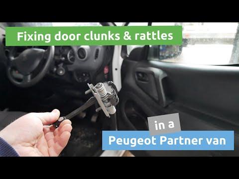 How to fix rattles & clunks in Peugeot Partner or Citroen Berlingo doors?