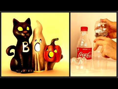❣DIY Halloween BOO Sign Using Plastic Bottles❣