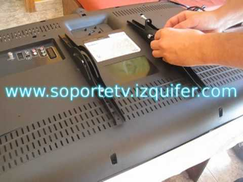 Instalar soporte tv youtube - Soporte pared tv sin tornillos ...