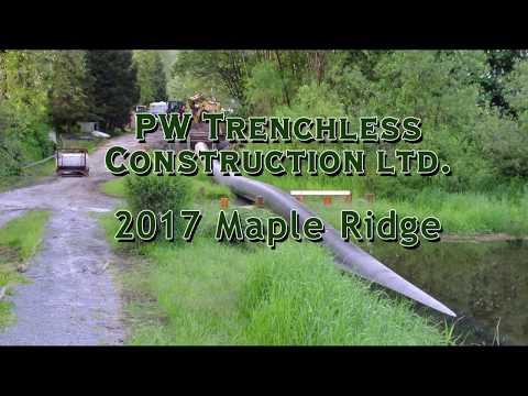 PW Trenchless 2017 Kanaka Creek Maple Ridge