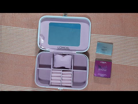 Loreal Bridal makeup jewellery box free with 2 affordable makeup products - karwachauth shopping - - 동영상