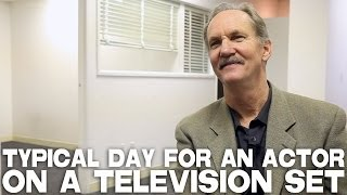 Typical Day For An Actor On A Television Set by Michael O'Neill