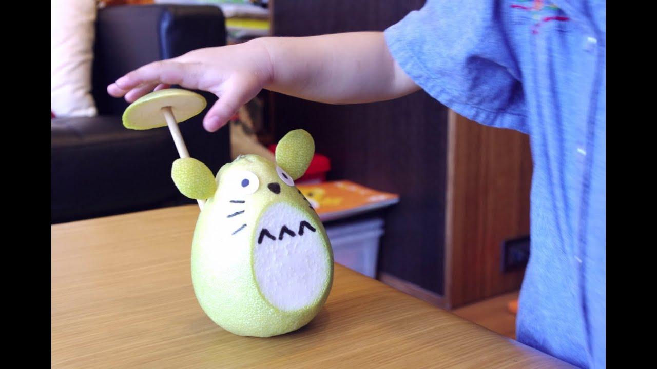 和 Kokomi 一起分享 TOTORO 龍貓柚子的作方 (=・・=) - YouTube