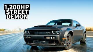 8 Second Street Car: 1,200hp Dodge Challenger Demon Driven by Leah Pritchett