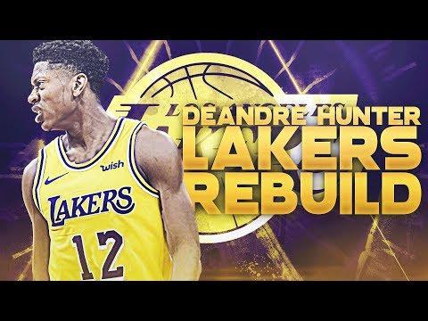 Kyrie Irving Signing! De'Andre Hunter LA Lakers Rebuild   NBA 2K19