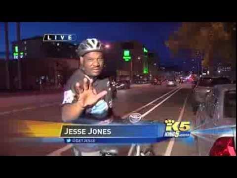 Jesse tests bicycle turn signals KING5 com Seattle3 NBC