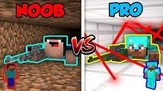 Minecraft NOOB vs. PRO: SNIPER BATTLE! in Minecraft!