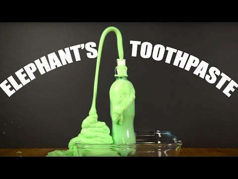 ELEPHANT'S TOOTHPASTE: An impressive experiment you can try at home